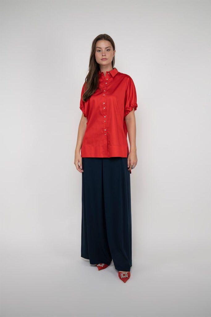 Sembol Giyim Kolu Baglama ve Büzgü Detaylı Kadın Bluz 1957
